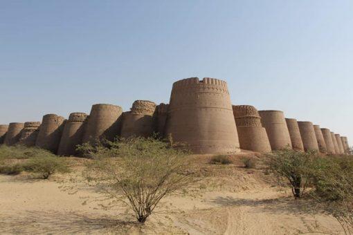 Derawar Fort in Cholistan Desert, Pakistan